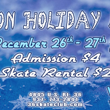 Skate on Holiday Break at 36 Skate Club | December 26-27, 12-3pm