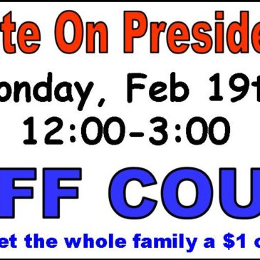 Let's Skate on President's Day COUPON DOWNLOAD!!!