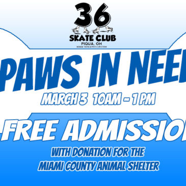 FREE ADMISSION with donation of an item for the Miami County Animal Shelter on March 3rd